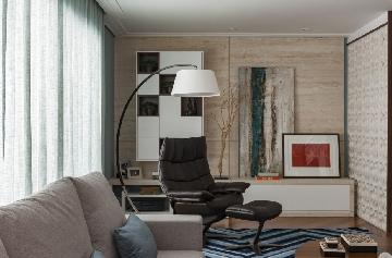 Projeto de Cristiane Schiavoni com luminária do Empório Luz