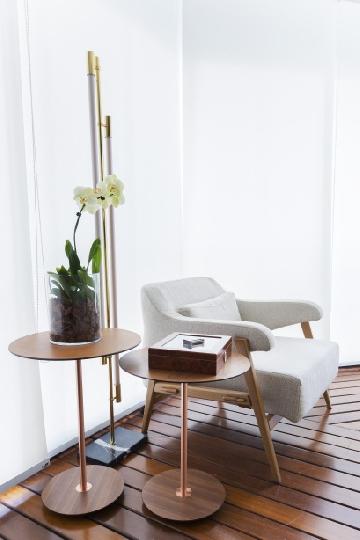 Projeto da designer de interiores Juliana Torres com luminária São Judas Prime.