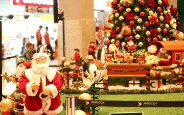 Decoração de Natal no Aparecida Shopping, em Aparecida de Goiânia