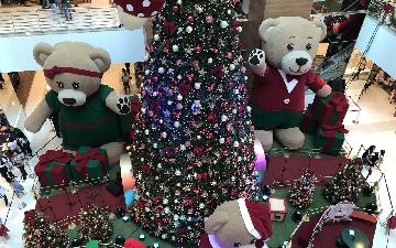 Vila dos Ursos é o tema da decoração de Natal do Goiânia Shopping