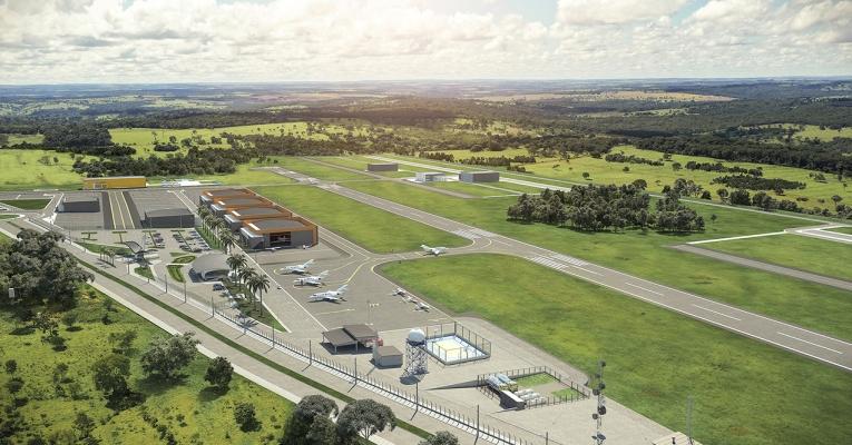 Prefeitura de Aparecida inicia pavimentação de acesso ao Antares Polo Aeronáutico